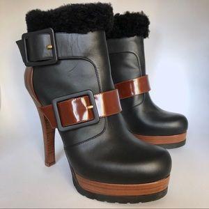 FENDI Heel Boots with Fur